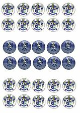 BURY FC EDIBLE RICE WAFER PAPER CUP CAKE TOPPER X30