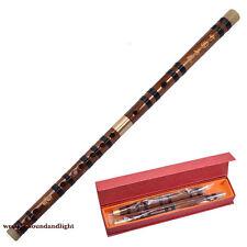 * New* Chinese Bamboo Flute dizi C/D/E/F/G key+Flute Box +flute glue & gift Pack