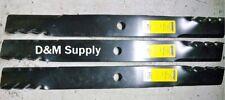 "Set of 3 XHT 54"" Mower Mulching Predator blades to fit John Deere M143520"