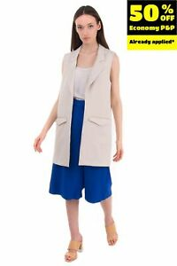 RRP €150 ..,MERCI Longline Gilet Size IT 44 / M Unlined Open Front Made in Italy