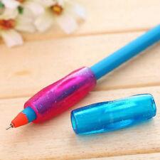 4Pcs Pencil Grip Child Kid Handwriting Aid Tool Soft Rubber Pen Topper helpful