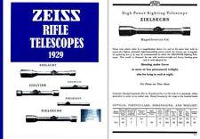 Zeiss (Ger) Gun Telescopes 1929