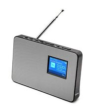 Office DAB/DAB+ Digital & FM Radio, Portable Wireless Radio & Metal Grill-Silver