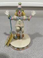 Circus Royale Wallace Berrie 1983 Vintage 9605 Clown Porcelain Unicycle Balance