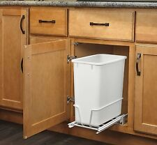 Trash Cans For Kitchen Under Counter Pull Out Bin Cabinet Waste Container 20 Qt.