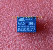 10pcs SRD-03VDC-SL-C 3V DC SONGLE Power Relay SRD-03VDC-SL-C PCB Type SPDT