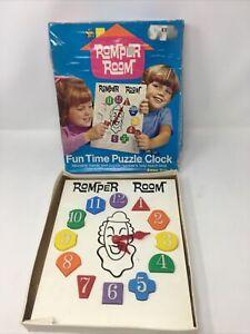 ROMPER ROOM FUN TIME PUZZLE CLOCK Complete in Box