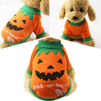 Dog Pets Halloween Pumpkin Outfit Costume Fashion Stylish Pet Clothes Coat New
