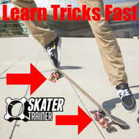 Learn Skate Tricks Faster with Skater Trainer, Beginner Skateboard Accessory