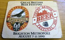 1 COASTERS GREAT BRITISH BEER FESTIVAL 1990 CHARLES WELLS EAGLE BITTER BRIGHTON