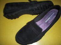 Skechers Bikers-Melbourne Suede Leather Memory Foam Slip-On Shoes 8.5 M Black