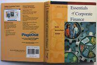 ESSENTIALS of CORPORATE FINANCE 2001 3rd Edition Ross Westerfield Jordan