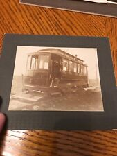 RARE REAL PHOTO Electric #1 Car Trolley Salt Lake Cabinet Style Picture Train