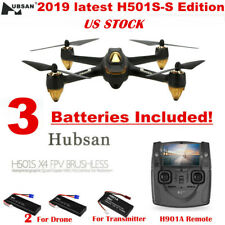 Hubsan H501S Quadcopter 5.8G FPV Brushless 1080P GPS Drone,SS Edition+3Batteries
