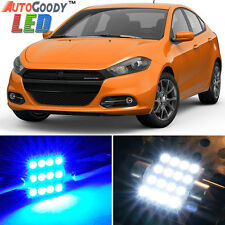 13 x Premium Blue LED Lights Interior Package for Dodge Dart 2013-2016 + Tool