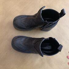 jeffrey campbell 7 Black Platform Boots Vintage