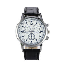 UK Business Watch Men's Leather Army Casual Analog Quartz Boys Wrist Watches