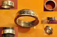 1964 835% SILVER FRENCH 5 RANC COIN RING HANDSOME CLASSIC SIZE 13, Over 10.5g