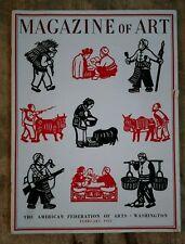 Magazine of Art The American Federation of Arts Washington February 1945 Vintage