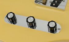 Telecaster Triple Control Plate, Custom Aircraft Aluminum by RockRabbit Guitars