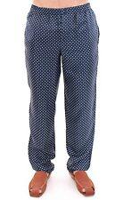 NEW $500 DOLCE & GABBANA Pants Blue Lounge SILK Pajama Sleepwear IT3 / US XS