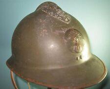 Ww2 French Adrian M26 helmet infantry badge casque stahlhelm casco elmo 胄 шлем