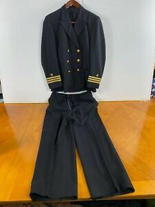 WW2 USN Named Lieutenant Officer Uniform  Malcolm E Watson Naval Academy CDR