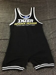 Inzer Advance Designs Weight Lifting Suit Adult Sz M White Clothes Men's Black