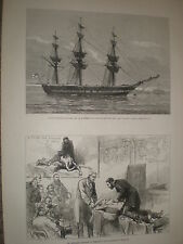 Dr Howard treatment for near drowned Royal Humane Society 1878 old print ref Y1