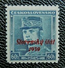 Slovakia: 1939 overprint on Czechoslovakia 60h blue, mn/h, scarce