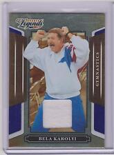2008 DONRUSS LEGENDS BELA KAROLYI RELIC CARD #93 ~ /250 ~ OLYMPIC GYMNASTICS