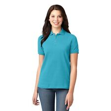 Ladies Polo Shirt Port Authority L420 XXL Turquoise Pique Knit Short Sleeve New