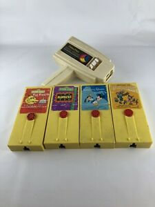 FISHER PRICE MOVIE VIEWER Toy with 4 Cartridges Sesame Street Disney