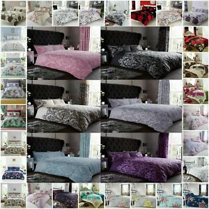 Printed Duvet Cover Set With Pillow cases Single Double King Super King