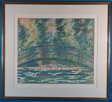 "Rare Marcus Uzilevsky ""Giverny"" Original Serigraph Signed and Numbered"