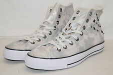 Converse Chucks All Star High TG 42 UK 8,5 CT hardware HI LEATHER ARGENTO 549629c