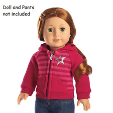 American Girl Striped Hoodie for 18-inch Dolls  NEW in AG Red Bag
