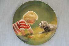 "Donald Zolan, Collector Plate of Young Boy and Dog, ""Making Friends"", 1985"