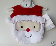 "Carter's Baby Terry Christmas Bib ""Santa"" One Size NWT"