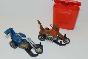 Mattel Chopcycles: used pair with Goose Pump. Hot Wheels Sizzler battery power