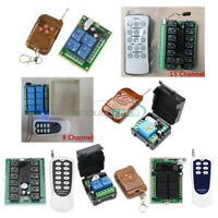 1/2/4//6/8/12/15 Channel Wireless RF DC 12V Remote Control Transmitter+ Receiver