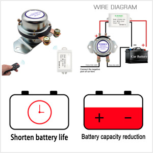 12V 180A Car Remote Control Battery Switch Wireless Disconnect Power Master Kill