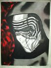 Canvas Painting Star Wars Kylo Ren Mask Side B&W Art 16x12 inch Acrylic