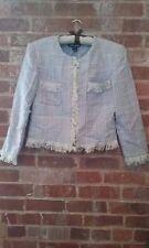 NICOLE STUDIO Lavender Tweed Style Career Jacket Coat Blazer 8P HiddenJuel