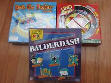 Balderdash, Uno Spin, & Let's Go Fishing Game - 3 Kid Games Lot - ALL BRAND NEW