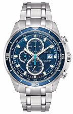 Citizen CA0349-51L Men's Eco Drive Super Titanium Blue Dial Chronograph Watch