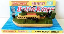 Lesney MATCHBOX BATTLE KINGS K-105 HOVER-RAIDER Diecast Model & Custom Display
