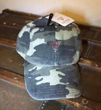GUESS Baseball Hat Pink Crystals Rhinestones Camo NWT One size Cap Adjustable