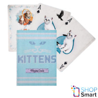 ELLUSIONIST MADISON KITTENS BLUE CATS PLAYING CARDS DECK GAFFED MARKED NEW