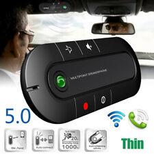 Multipoint bluetooth 5.0 Hands Free Car Auto Wireless Visor Clip Speakerphone RF